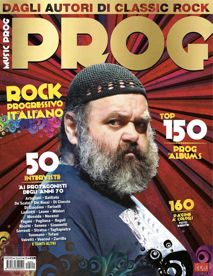 La copertina dello speciale di PROG dedicato a Francesco di Giacomo